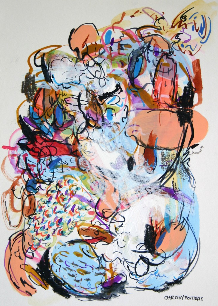 Painting, Abstract, Watercolor, Acrylic, Paper Works