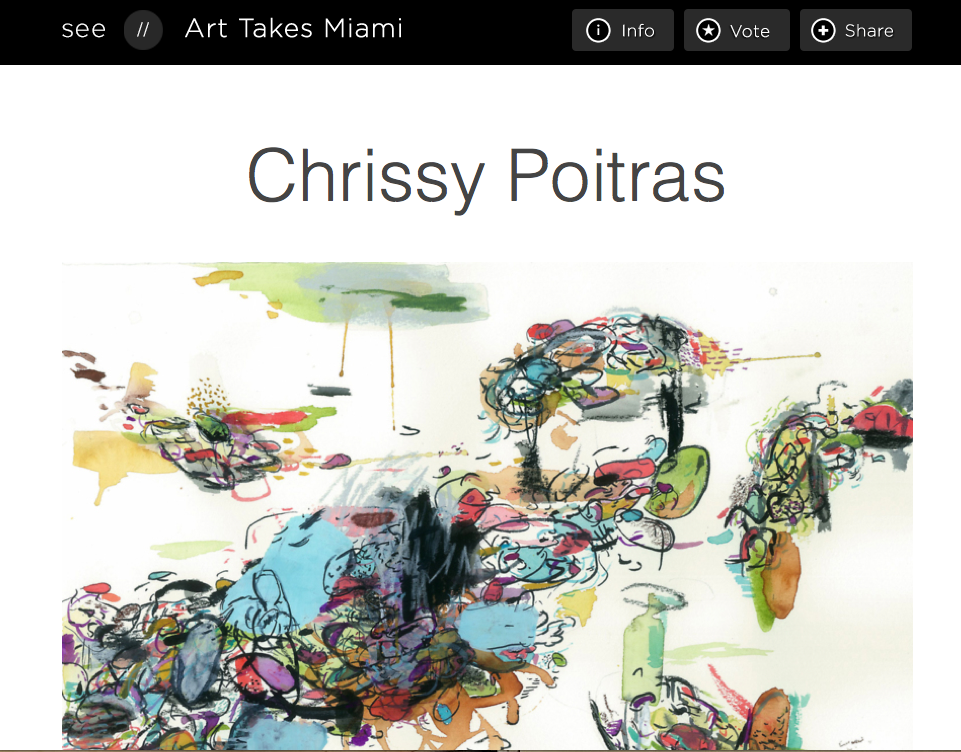 Art, Abstract, Chrissy Poitras, Miami, Contest