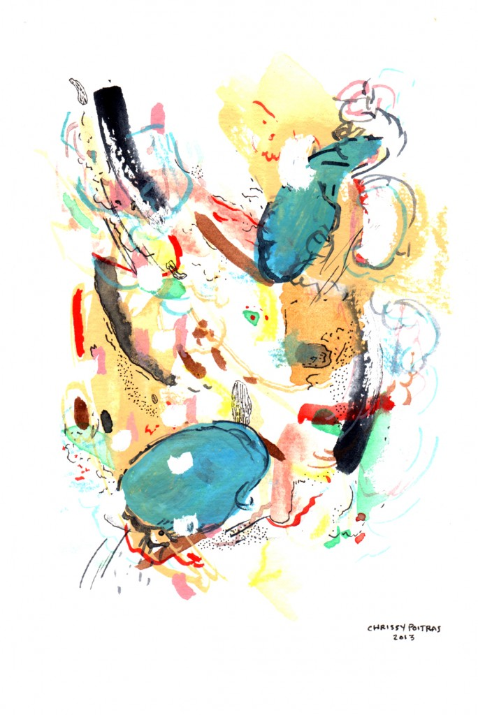 Chrissy Poitras, Watercolour, Abstract, Painting, Blue, Canadian, Art