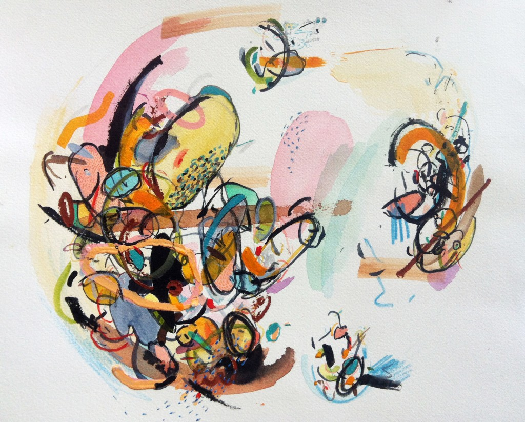 Chrissy Poitras, Abstract, Watercolor, Painting, Ontario