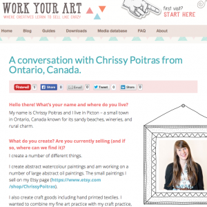 press, Chrissy Poitras, Work Your Art