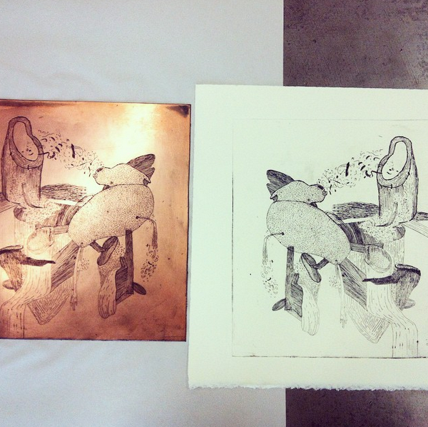copper, etching, intaglio, printmaking, Chrissy Poitras
