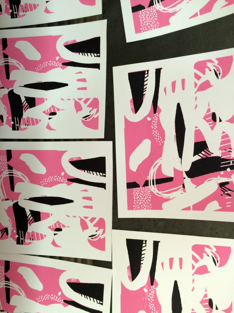 Printing Process for I'm U by Chrissy Poitras